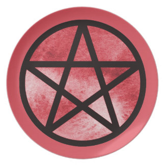 Red Pentacle Plate