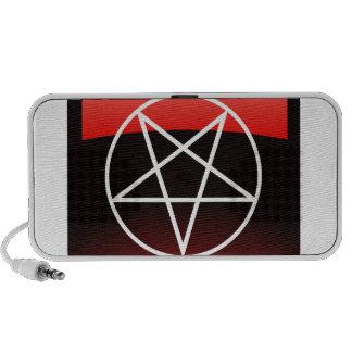 Red Pentacle iPhone Speakers