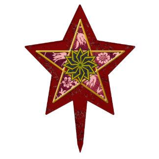 Red pentagram 2 - Cake Topper
