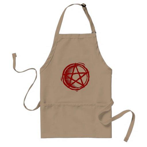 Red Pentagram Adult Apron