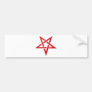 red pentagram bumper sticker