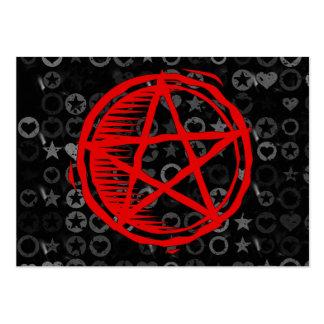 Red Pentagram Large Business Cards (Pack Of 100)