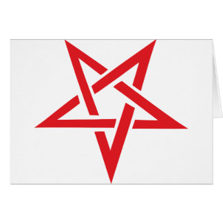 red pentagram card
