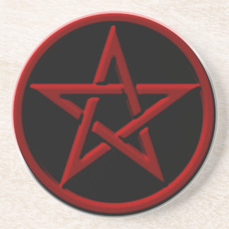 Red Pentagram Coaster