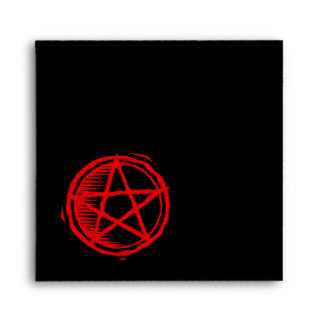 Red Pentagram Envelope