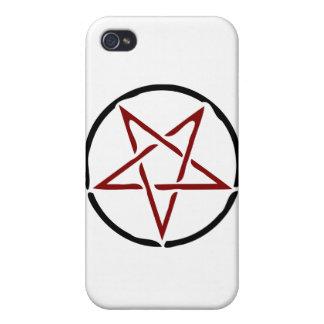 Red Pentagram iPhone 4 Case
