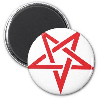 red pentagram magnet
