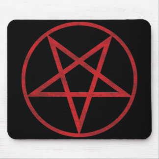 Red Pentagram Mouse Pad