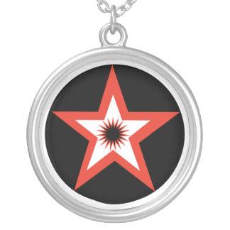 Red Pentagram Necklace