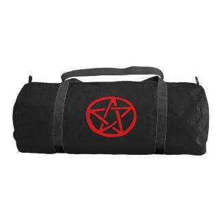 Red Pentagram Pagan Art Gym Bag