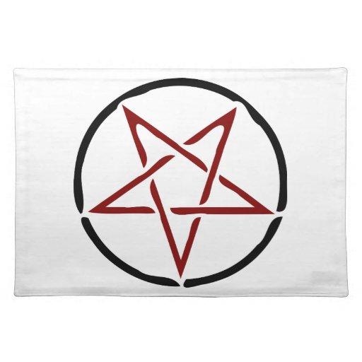 Red Pentagram Place Mats