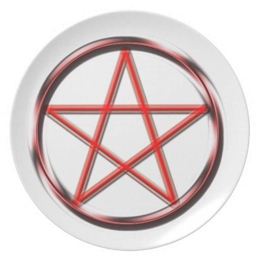 Red Pentagram Plate
