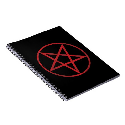 Red Pentagram Spiral Notebook