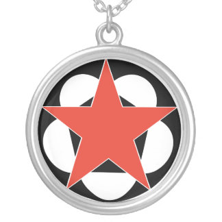 Red Pentagram Star necklace