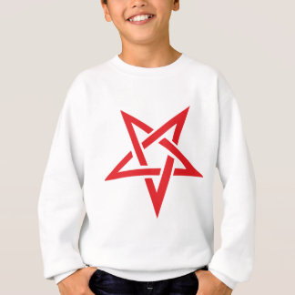 red pentagram sweatshirt