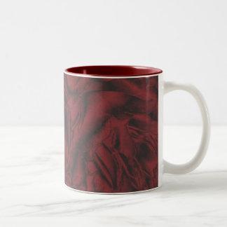 Red peoni mug
