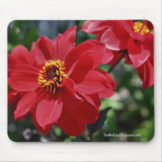 Red Peony Flower Photo Mousepad