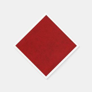 Red Peony Gambler Velvet Custom Home Casino Paper Napkin