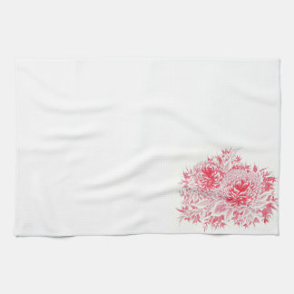Red Peony Kitchen Towel