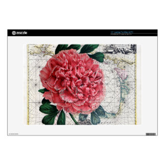 Red Peony Map Skins For Laptops