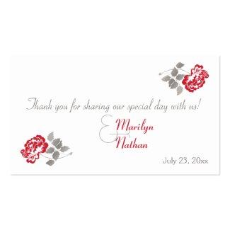 Taupe, peOnia vermelha no convite branco do convite 12.7 17.78cm ...