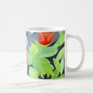 Red Peony - original watercolour artwork Coffee Mug