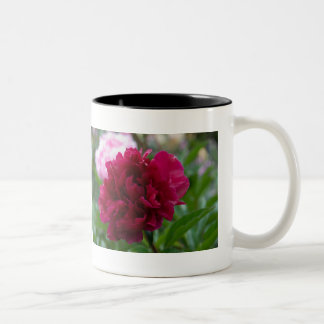 Red Peony | Rote Pfingstrose Two-Tone Coffee Mug