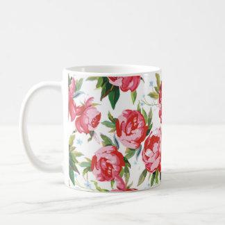 Red Peony Seamless Coffee Mug