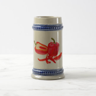 Red pepper beer stein