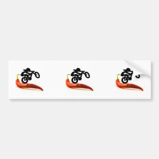 Red Pepper Bike Rider Car Bumper Sticker