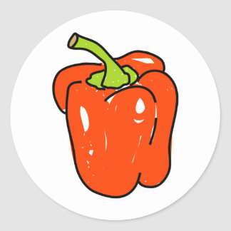 Red Pepper Classic Round Sticker