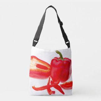 Red pepper crossbody bag