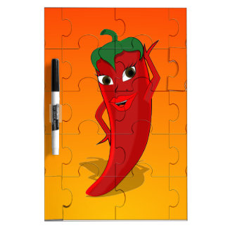 Red Pepper Diva Jigsaw Puzzle Dry-Erase Board