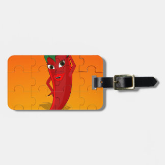 Red Pepper Diva Jigsaw Puzzle Luggage Tag