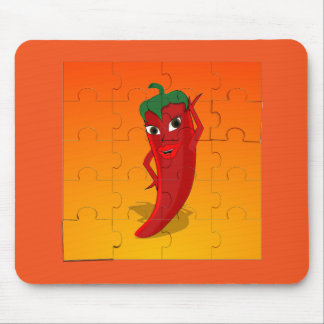 Red Pepper Diva Jigsaw Puzzle Mouse Pad