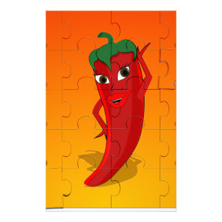 Red Pepper Diva Jigsaw Puzzle Stationery