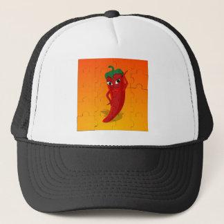 Red Pepper Diva Jigsaw Puzzle Trucker Hat