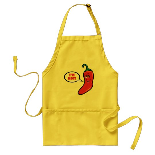 RED PEPPER HOT Apron! Adult Apron