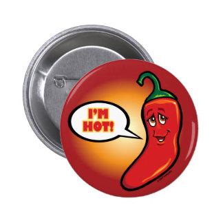Red Pepper Hot! Pinback Button