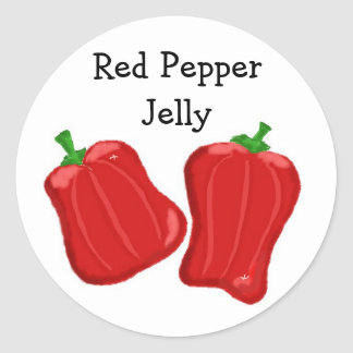 Red Pepper Jelly Classic Round Sticker