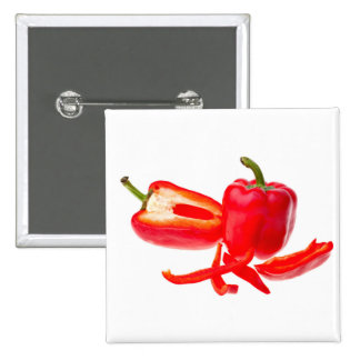 Red pepper pinback button