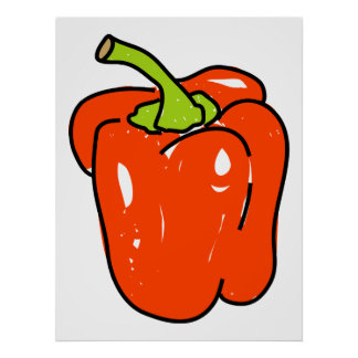 Red Pepper Poster
