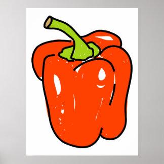 Red Pepper Print