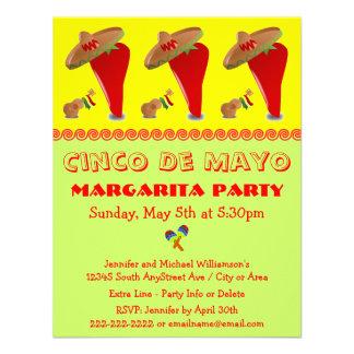 Red Pepper Sombrero Margarita Cinco De Mayo Party Invite