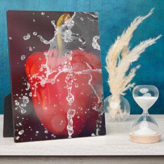 Red Pepper Splash Plaque