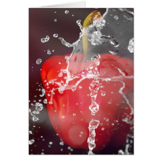 Red Pepper Splash Stationery Note Card