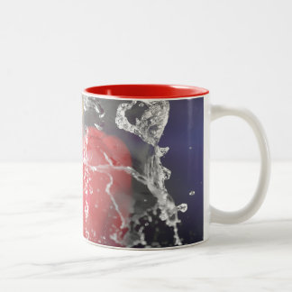 Red Pepper Splash Two-Tone Coffee Mug