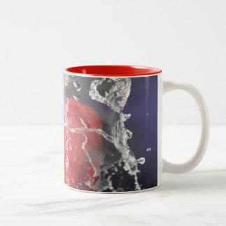 Red Pepper Splash Two-Tone Coffee Mug