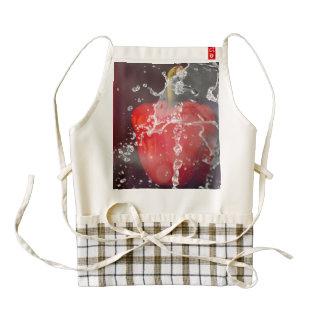 Red Pepper Splash Zazzle HEART Apron