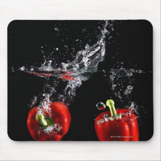 red pepper splashing in water mouse pad
